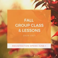 Fall Group Class & Lesson Registration