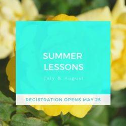 Summer Lesson Registration