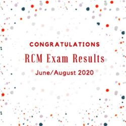RCM June & August Exam Results