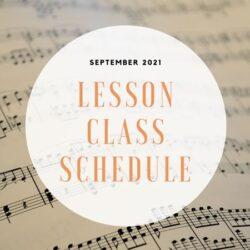 Lesson & Class Schedule